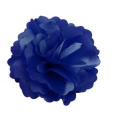 Mėlyna šilkinė gėlė-segtukas