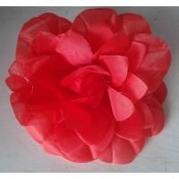 Raudona organzos rožė