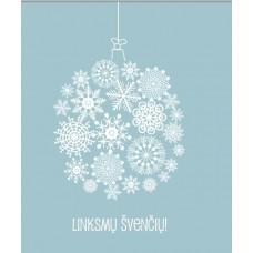 Kalėdinis atvirukas su snaigėmis
