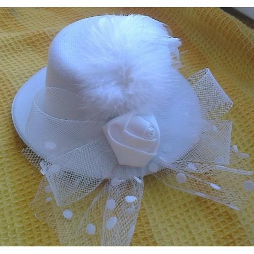 Mini skrybėlaitė (balta)