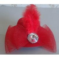 Mini mini skrybėlaitė (raudona)