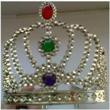 Princesės tiara su spalvotais akmenukais