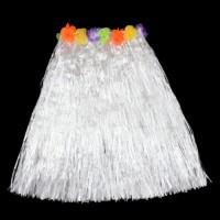 Baltas havajietiškas sijonas jaunajai
