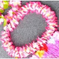 Puošnios, tankios girliandos (rožinė/ugninė)