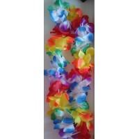 Prabangios spalvotų gėlių girliandos