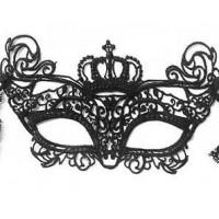 Juoda karnavalinė kaukė (Karalienė)