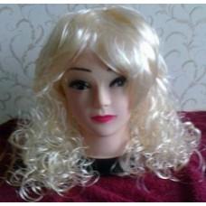 Blondinės perukas (garbanotas)