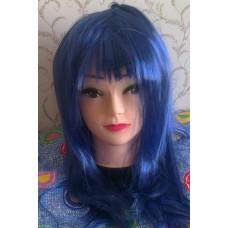 Mėlynas perukas (tiesių plaukų)