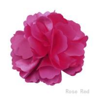 Rožinė šilkinė gėlė-segtukas