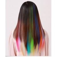Spalvotos prisegamos plaukų sruogos (pasirenkamos spalvos)